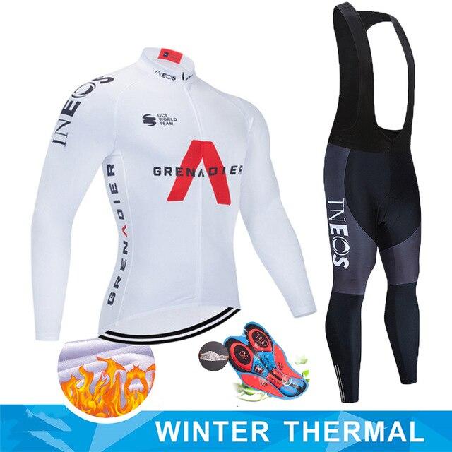 INEOS-Camiseta de Ciclismo para Hombre equipo profesional de invierno, conjunto de manga...