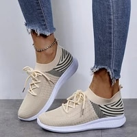 2021 women flat platform shoes woman sneakers for women breathable mesh tenis ladies shoes for sock sneakers zapatillas mujer