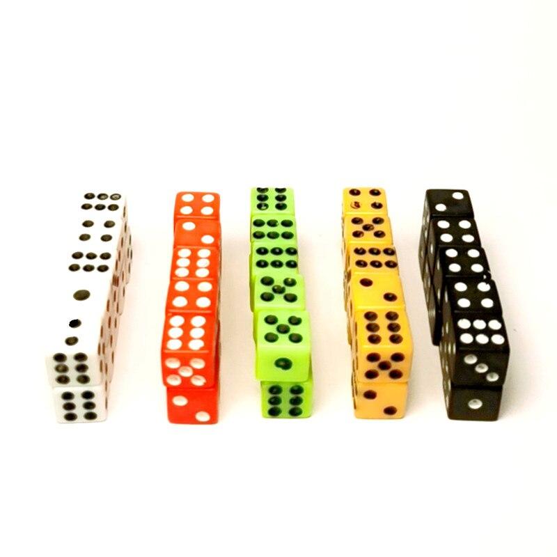 50 шт., 8 мм, Мини Акриловые Кубики из смолы, пластиковые белые черные кубики, стандартные шестисторонние кубики для фотографий