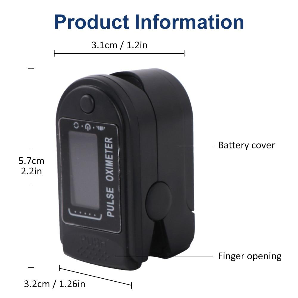 Portable Finger Oximeters Fingertip Pulsioximetro Heart Rate Saturometro Household Health Monitors Pulse Oximeter Oximetro