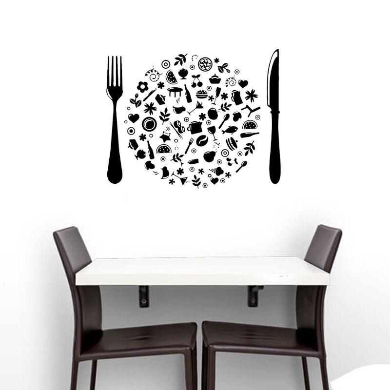 Pegatinas de pared con diseño creativo para decoración de comedor, calcomanías de...