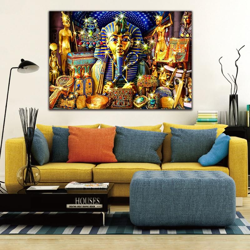 Diy colorings imagens por números com estátua egípcia imagem desenho pintura alívio por números emoldurado casa