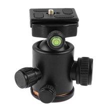 VD-02 Tripod döngüsü kafa 360 derece dönen panoramik Ballhead Monopod Tripod DSLR kamera alüminyum alaşım