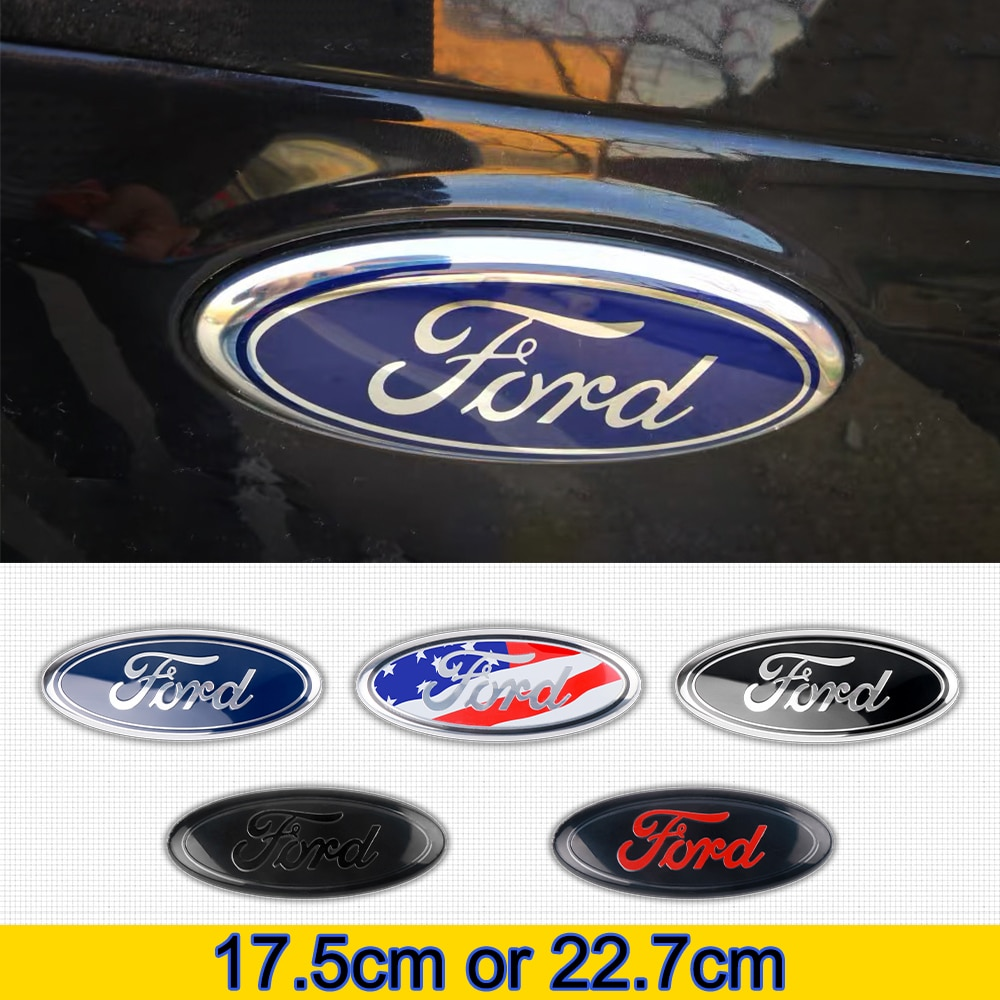 Estilo do carro 3d abs frente capô emblema emblema tronco traseiro adesivo para ford focus mondeo kuga fiesta escolta explorer borda