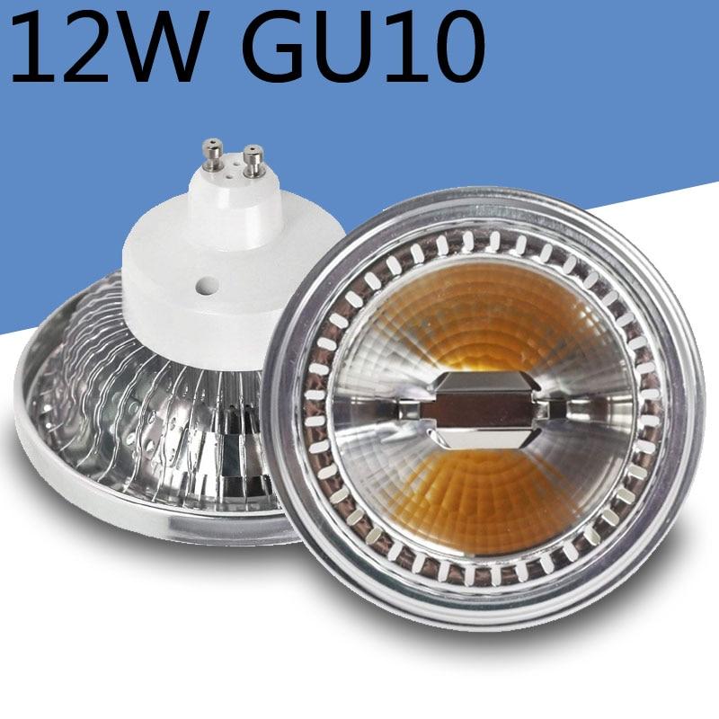 GU10 AR111 12W LED spot light COB AC85-265V Dimmable 110lm/W 3 year warranty Bean gall light