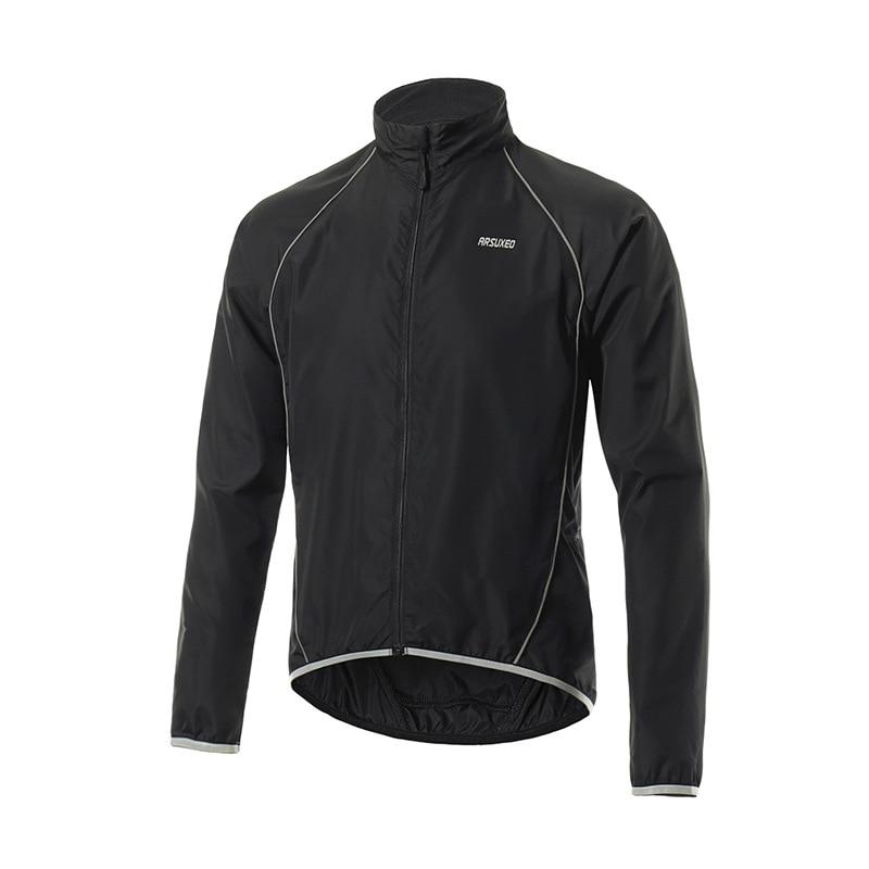 ARSUXEO Ultralight Reflective Men Cycling Jacket Windproof Waterproof Road Mountain MTB Bike Bicycle Jacket Running Wind Jacket
