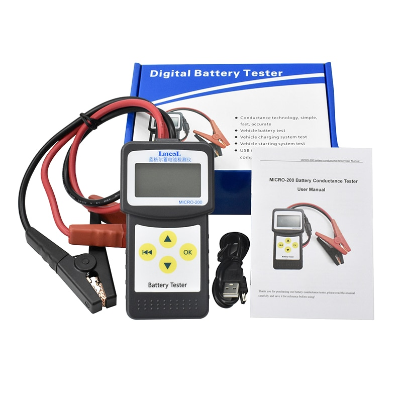 all sun high performance digital automotive 12v cca battery tester for cold temperature battery load charging voltage starter Lancol MICRO200 12V Automotive Professional Diagnostic Tool Digital Battery Tester CCA Lead Acid Battery Tester