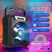 Haut-parleur bluetooth sans fil Portable Mini haut-parleur LED TF USB FM AUX 3D stéréo musique son haut-parleur pour téléphone ordinateur basse boîte