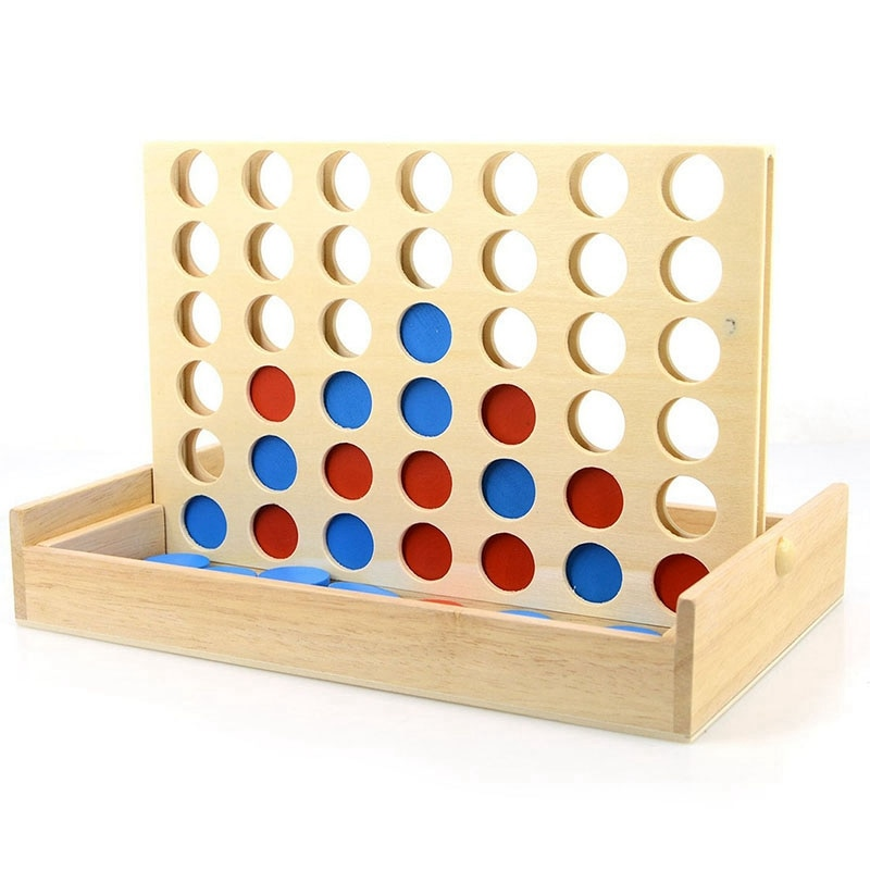1 pcs new arrival hot sale connect four in a row 4 in a line board game kids children fun educational plastic challenging toy Four In A Row Wooden Game Line Up 4 Classic Family Toy Board Game For Kids And Family Fun Toys