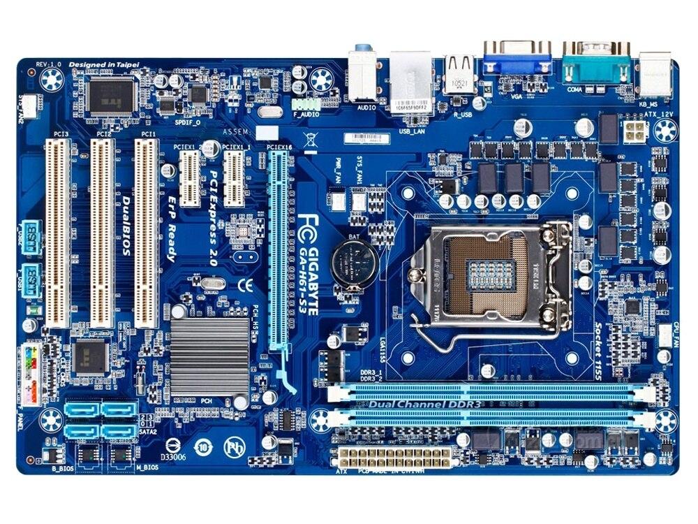 Gigabyte GA-H61-S3 DDR3 LGA 1155 H61 placa base de escritorio H61-S3 para...