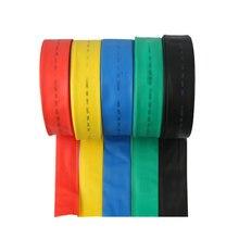 (1 메터/몫/lot) 90mm 내경 열 수축 튜브/열 수축 튜브 색상 검정 빨강 파랑 녹색 황색 와이어 슬리브
