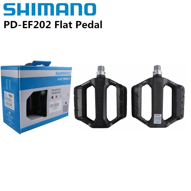 Shimano PD-pedales planos EF202 para bicicleta de montaña, pedales informales de aleación...