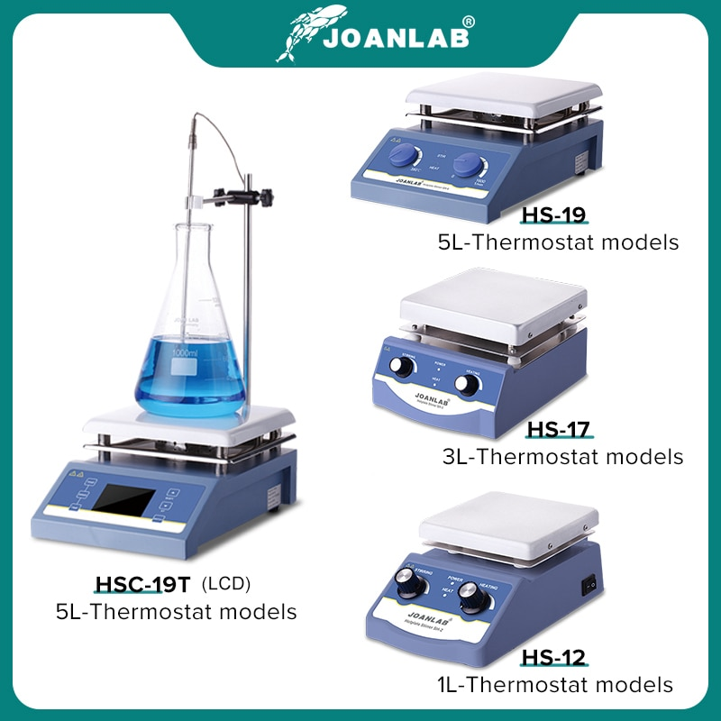 JOANLAB التدفئة محرك مغناطيسي لوحة ساخنة مختبر النمام شاشة ديجيتال خلاط مغناطيسي معدات مختبر 1L 3L 5L 220 فولت مع شريط تحريك