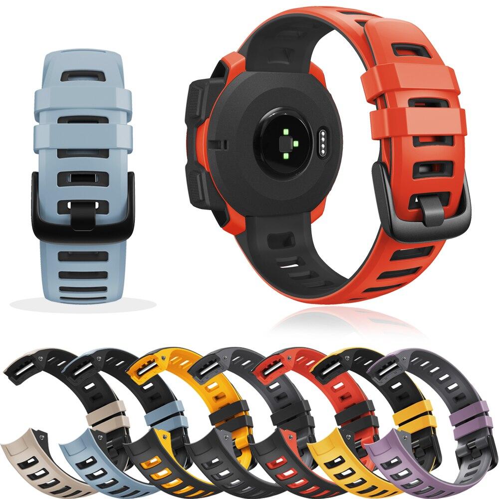 Silicone Wristbands For Garmin Instinct/Instinct Tactical/Solar/Tide Smart Watch Band Straps Replacement Sport Bracelet Correa