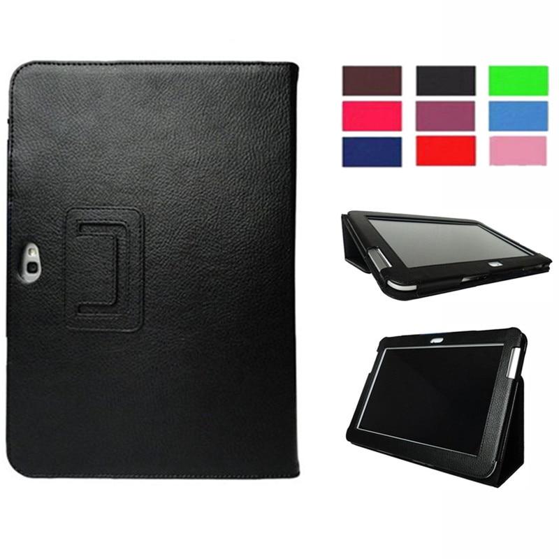 Caso ímã para Samsung Galaxy Note 10.1 2012 GT-N8000 N8000 N8010 N8020 Capa Tablet Tampa Flip Fique PU LEATHER Folio fique shell