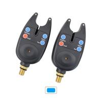 2 x Fishing Bite Alarm Adjustable Volume Tone Sensitivity LED Indicator
