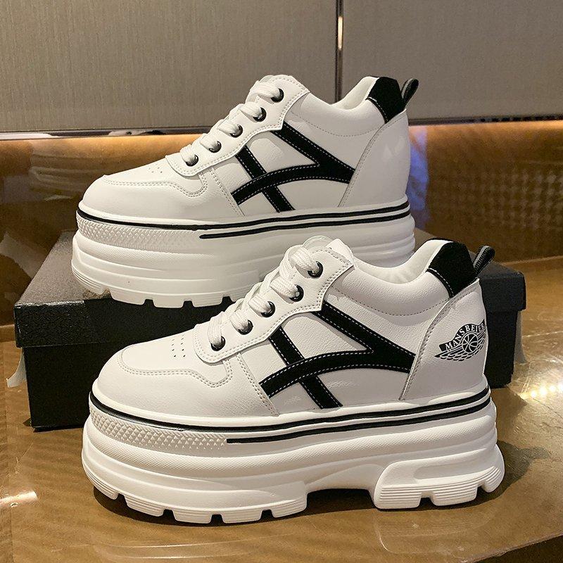 حذاء رياضي نسائي بنعل سميك مبركن ، حذاء رياضي نسائي بنعل سميك 8 سنتيمتر