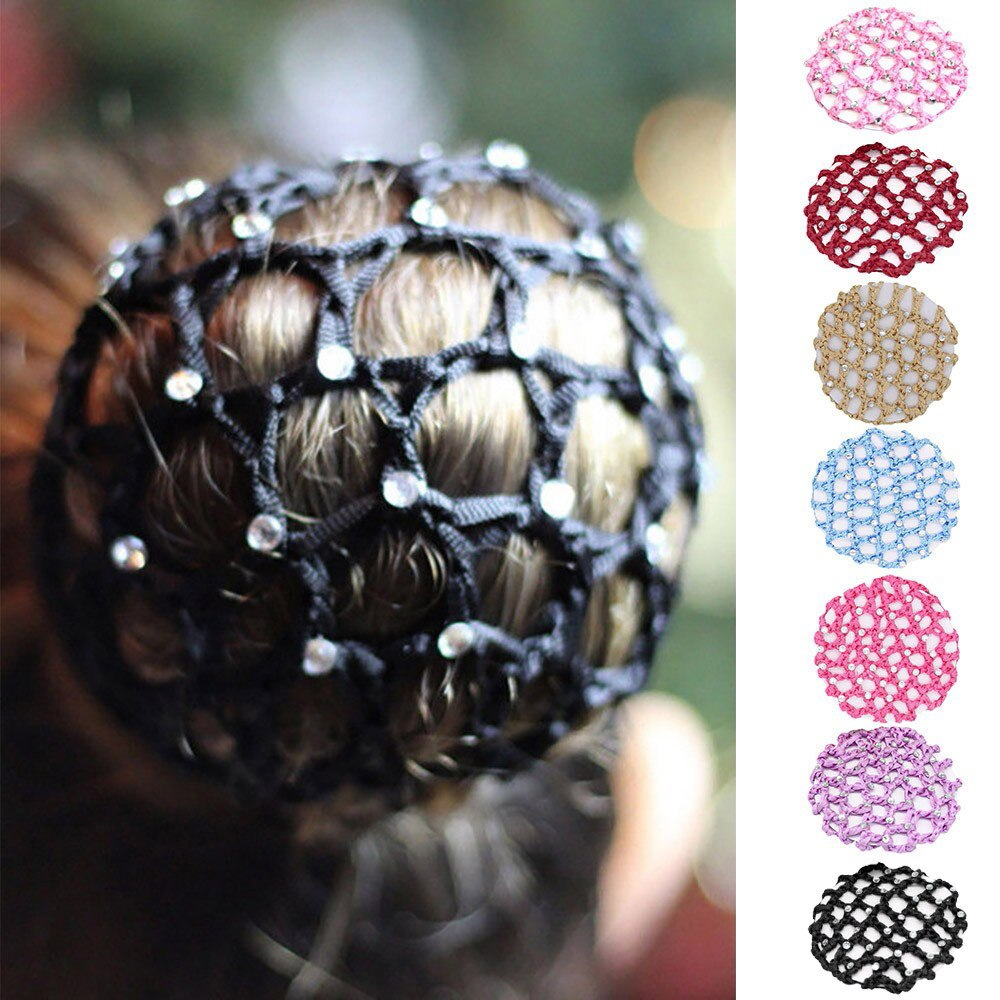 Snowshine capa para cabelo feminina, capa de coque para cabelo, com strass, rede de patins, crochê, envio gratuito, multicolor, accesorios xiaomi 15