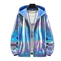 summer colorful shiny sunscreen clothing for men and women couples thin breathable color thin jackettrendlargesizejacketsformen