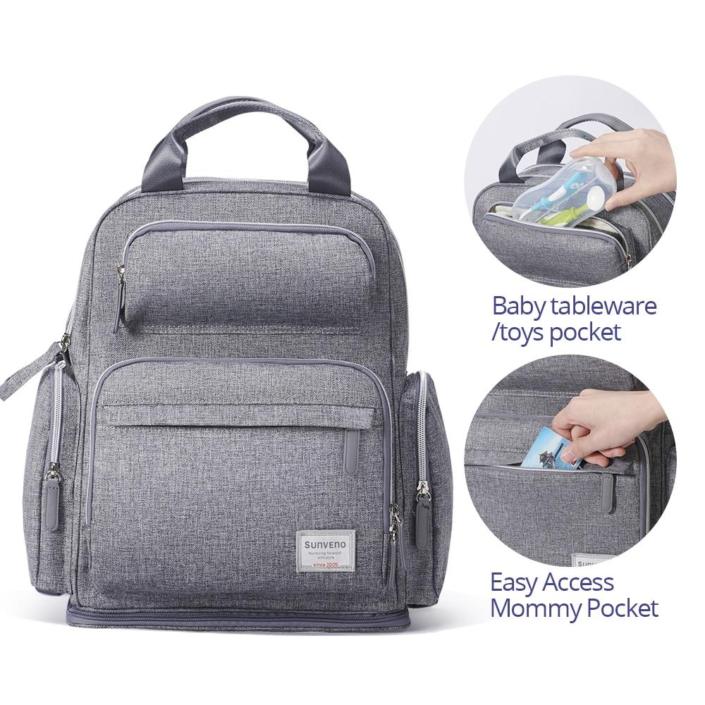 SUNVENO Diaper Bag Backpack Maternity Baby Bag Mom Backpack Stylish Stroller Baby Diaper Bags For Mom