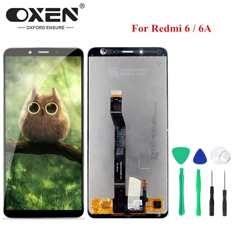 OXEN LCD ل شاومي Redmi 6 6A شاشة تعمل باللمس محول الأرقام الجمعية Redmi6A 5.45 ''عالية الجودة استبدال LCD عرض أدوات مجانية