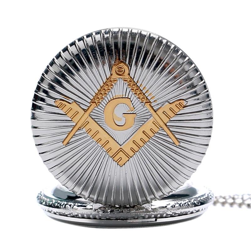 Бронзовий масонський масонство хром - Кишенькові годинники - фото 4