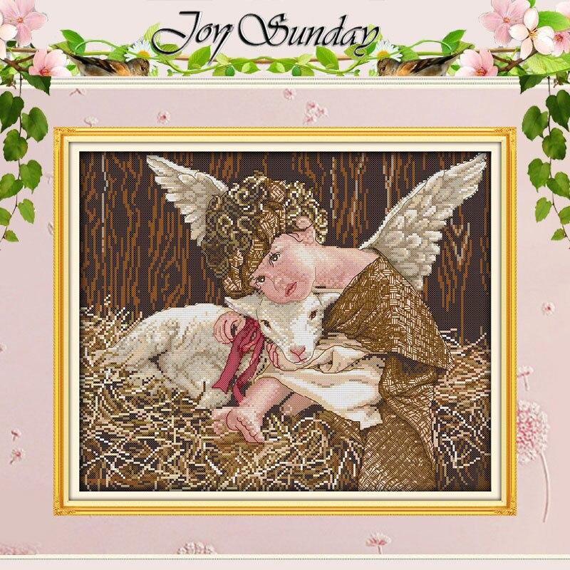 Angel and Lamb Patterns Counted Cross Stitch 11 14CT Cross Stitch Sets Wholesale Chinese Cross-stitch Kits Embroidery Needlework