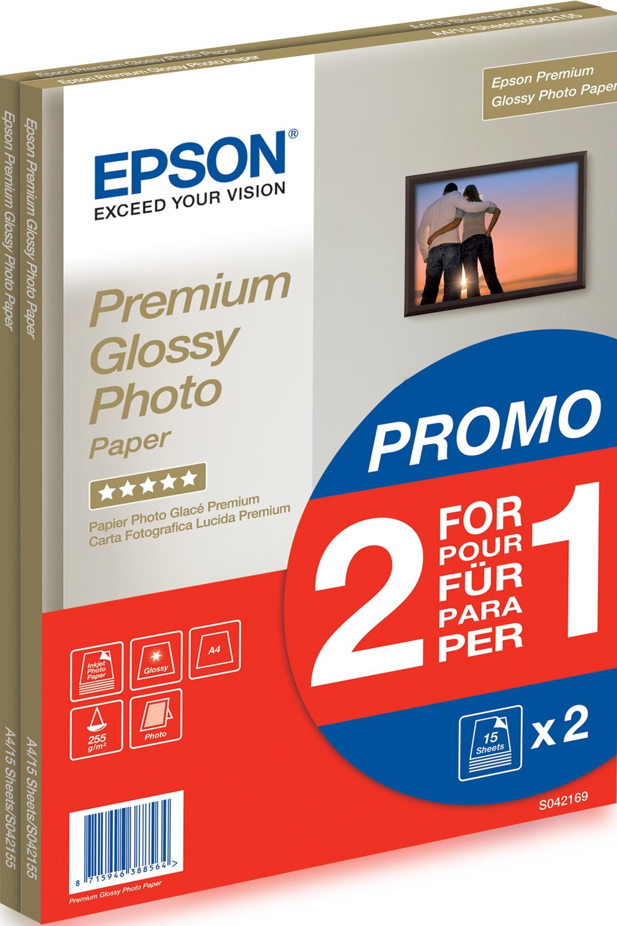 Epson Premium Glossy Photo Paper - A4 - 2x 15 Hojas