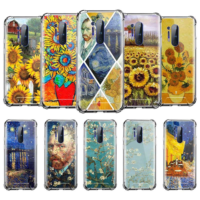 Van Gogh cielo Daisy funda para Xiaomi Mi nota 10 Pro 5G 9T A3 A2 Lite CC9E CC9 Poco X2 otoño prueba Airbag teléfono Cas