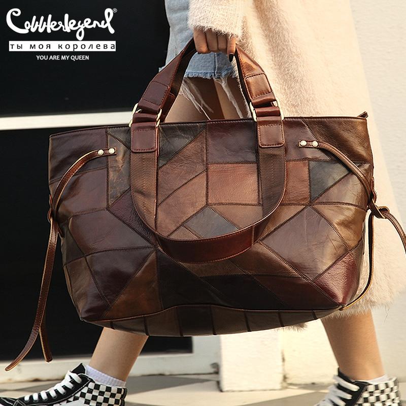 Cobbler Legend Big Bag for Women 2020 Genuine Leather Shoulder Bag Vintage Fashion Female Luxury Handbag Bags Designer New Totes