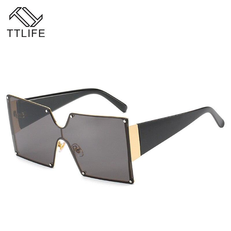 TTLIFE, gafas de sol cuadradas para mujer, moda de verano 2020, para mujer, de gran tamaño gafas de sol, gafas de diseñador de marca de lujo YJHH0296