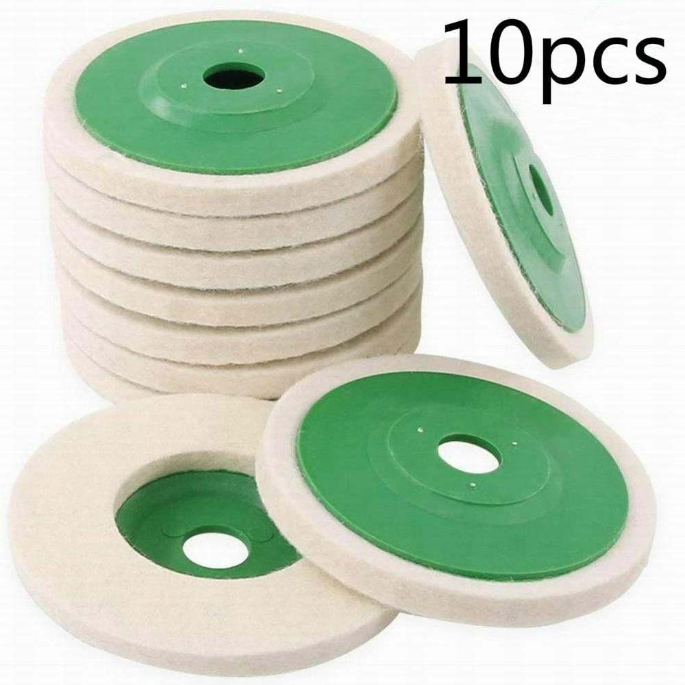 10 шт. 90x10x16 шерстяные полировальные диски, полировальные диски, угловая шлифовальная машина, войлочный полировальный диск для металла, мрамо...