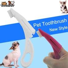 SUPREPET Pet Toothbrush Soft Teeth Brush for Dog Pet Grooming Dental Care Dog Finger Brush Plastic Dog Toothbrush Pet Products