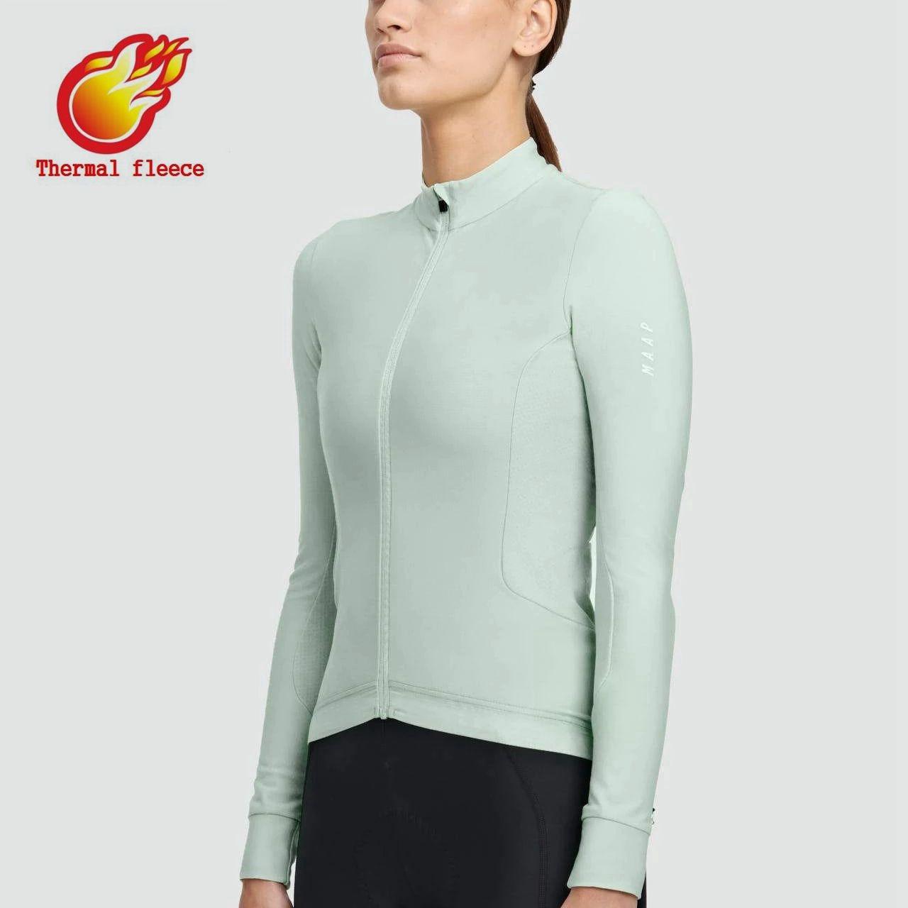 Maap-jersey de ciclismo de manga larga para mujer, ropa de ciclismo de montaña, camiseta de bicicleta de carretera, Maillot de manga larga