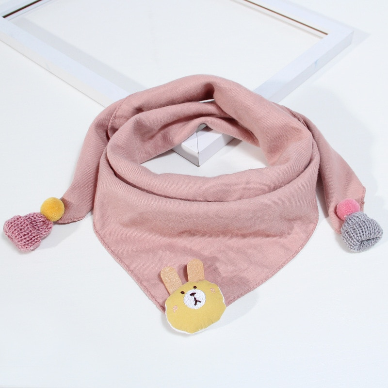 Children Triangle Scarves Spring Autumn Cotton Warm Baby Child Scarf Baby Neck Collar Boys Girls O R