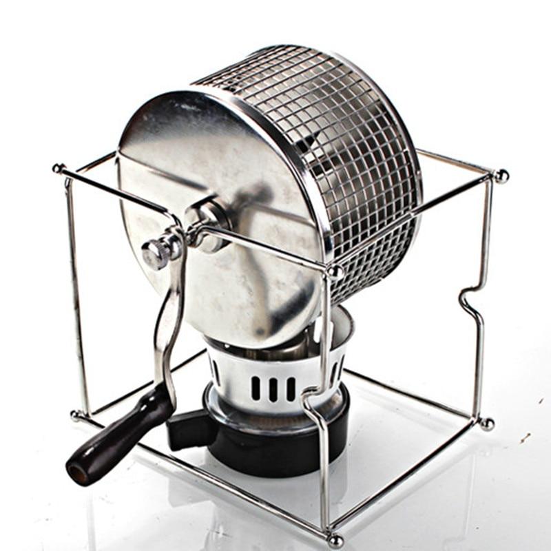 آلة تحميص حبوب القهوة اليدوية الصغيرة من الفولاذ المقاوم للصدأ ، محمصة حبوب القهوة المنزلية ، آلة تحميص حبوب الخبز