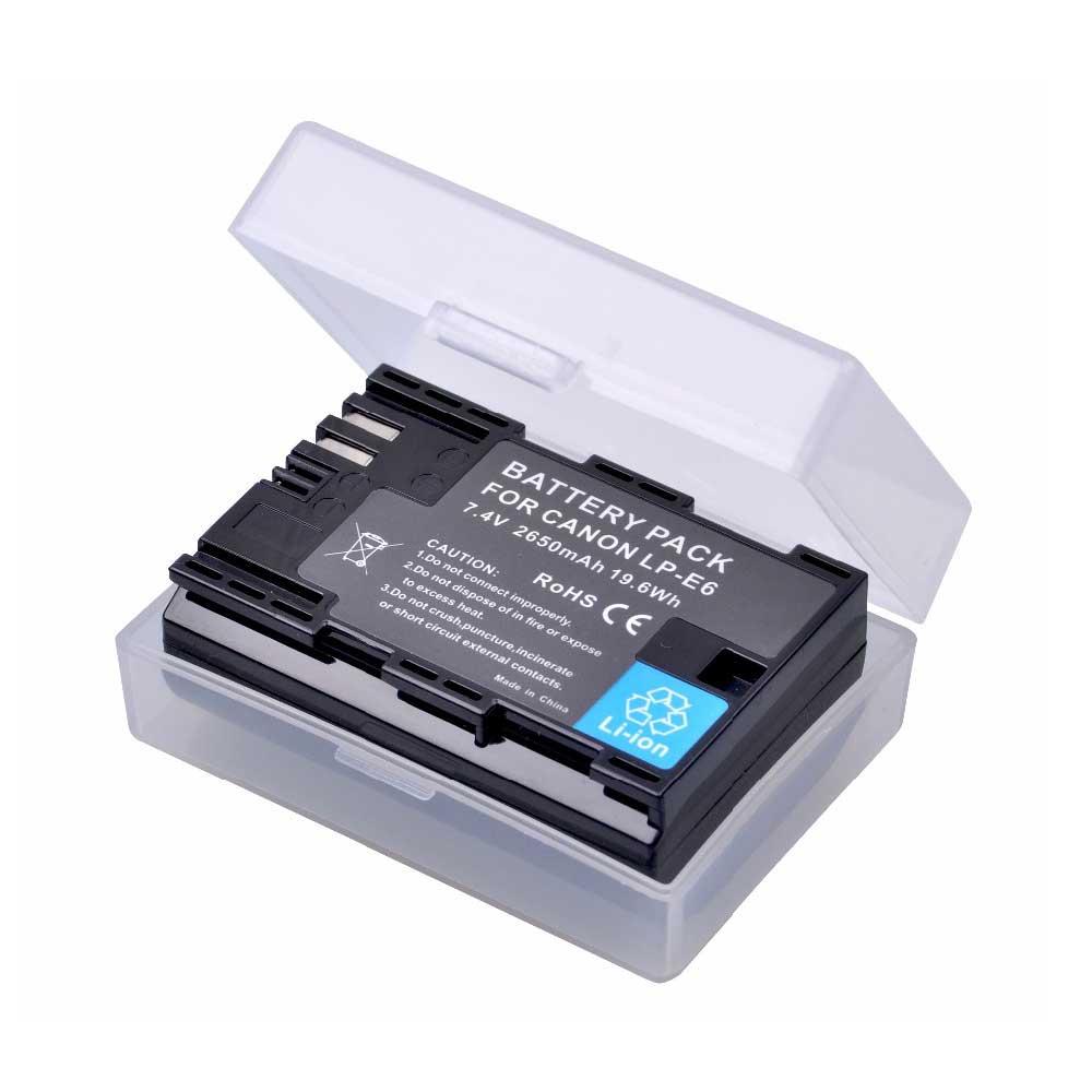 2650mAh LP-E6 LP-E6N LPE6 LPE6N Camera Battery for Canon EOS 5DS R 5D Mark II 5D Mark III 6D 7D 70D 80D XC10 Camera