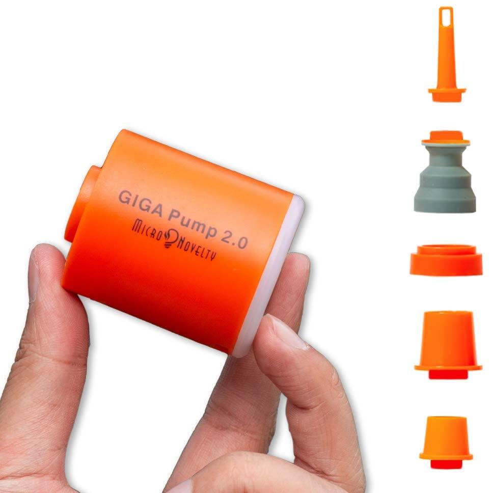 GIGA Pump 2 3-in-1 منفاخ كهربائي صغير محمول USB شحن في الهواء الطلق مضخة هواء مرتبة هوائية قارب مضخة تفريغ التخييم Latern