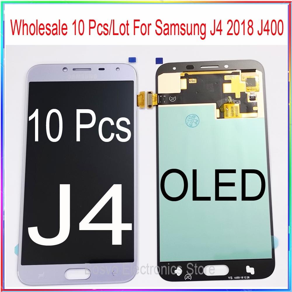 Großhandel 10 Teile/los Für Samsung Galaxy J4 J400 J400F J400G/DS SM-J400F LCD Display mit Touch Screen Digitizer Montage OLED