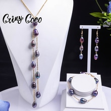 Pearl Earrings Necklace Sets 2021 Hawaiian Freshwater Pearl Chains and Necklaces Jewellery Sets for