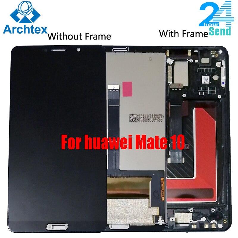 لهواوي ماتي 10 شاشة LCD + شاشة تعمل باللمس محول الأرقام الجمعية استبدال الإطار ل 5.9 بوصة هواوي Mate10 ALP L09 L29