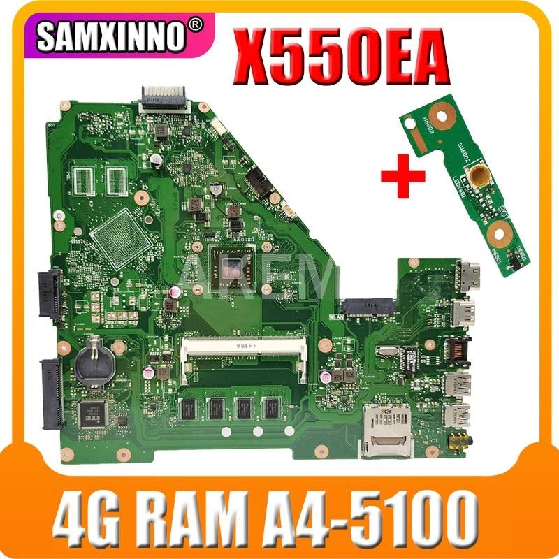 X550EP X550EA اللوحة لابتوب Asus X550EA F552EP F552E A552E X552E D552E اللوحة الأصلية 4G RAM A4-5100