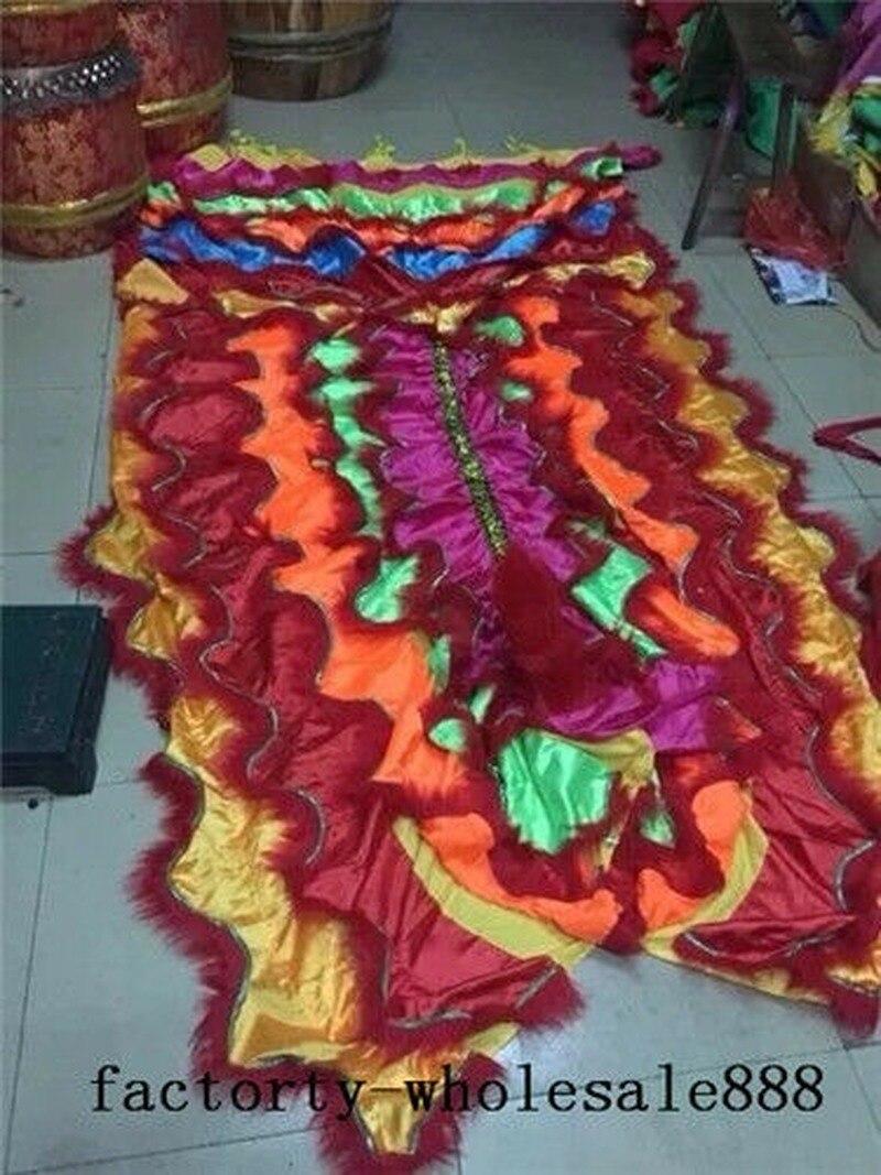 Китайский народный костюм талисмана для танцев шерсть Южная льва 120 дюймов (плащ)