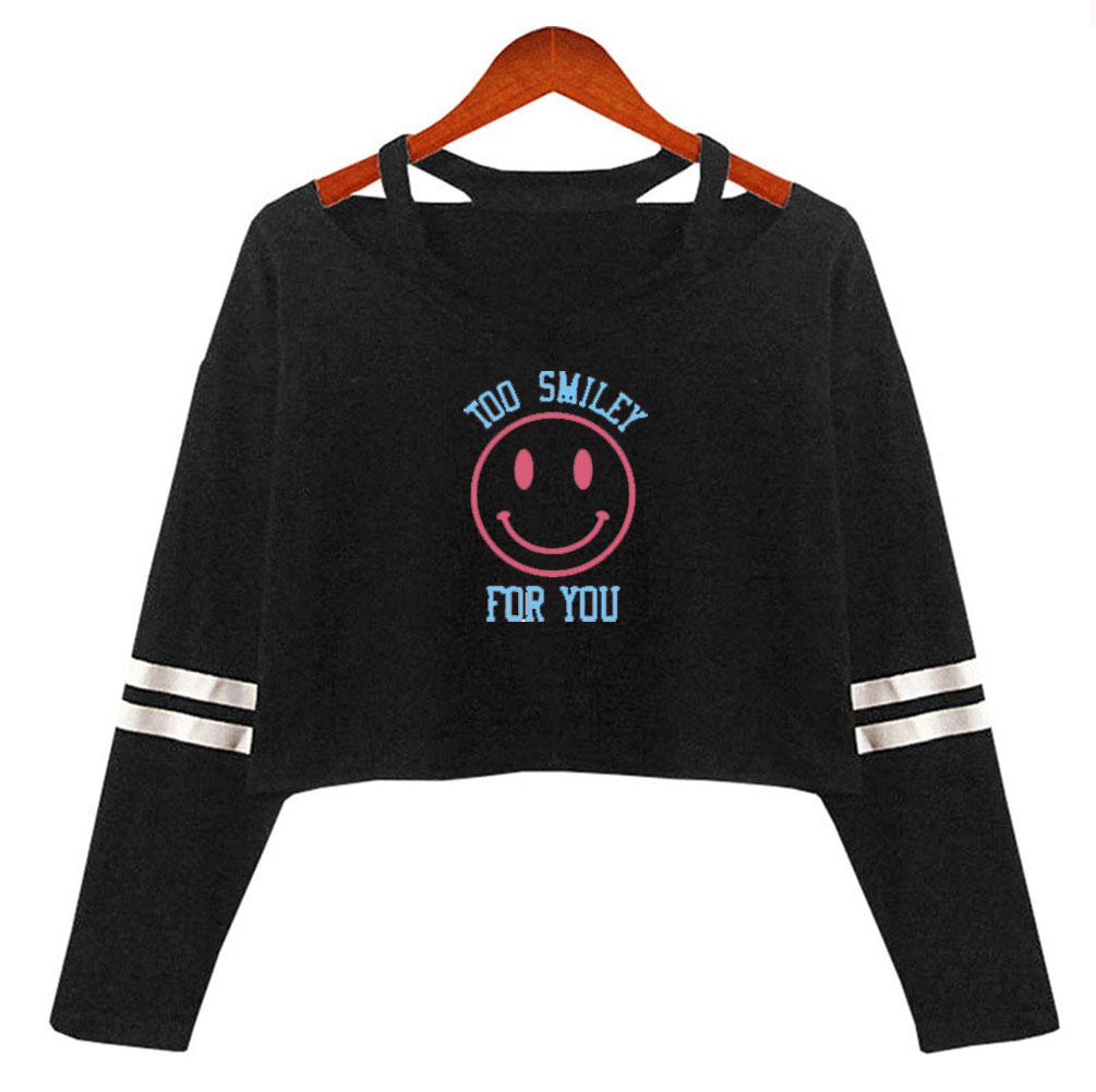 Женская укороченная рубашка с открытыми плечами FRDUN TOMMY Addison RAE Merch, уличная одежда для девочек