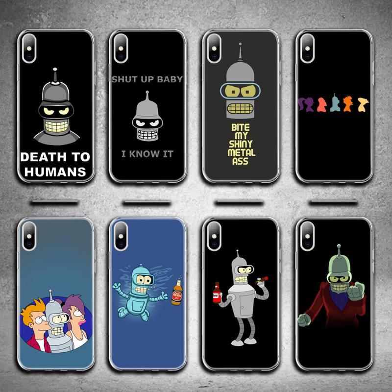 Bonito futuramas para miúdo caso de telefone para iphone 12 pro max 11 pro xs max 8 7 6s plus x 5S se 2020 xr capa