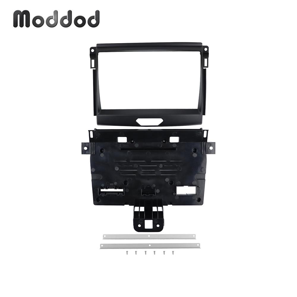 9 Polegada quadro de rádio para ford ranger 2015 + painel estéreo surround kit montagem guarnição dvd player rádio fascias moldura