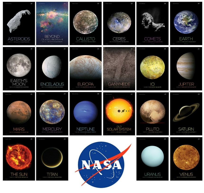 22Style Choose Space Travel Art Solar System Art Silk Print Poster Wall Decor Room Painting