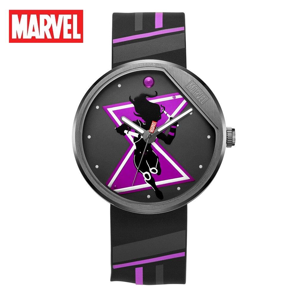 Marvel Original The Avengers Black Widow Cartoon Antique Clock Female Watch Quartz Women Girl  WristWatch Relogio Masculino 9136 enlarge