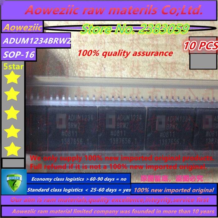 Aoweziic 100% nuevo importado original ADUM1234BRWZ ADUM1234 SOP-16 plasma LCD chip de potencia