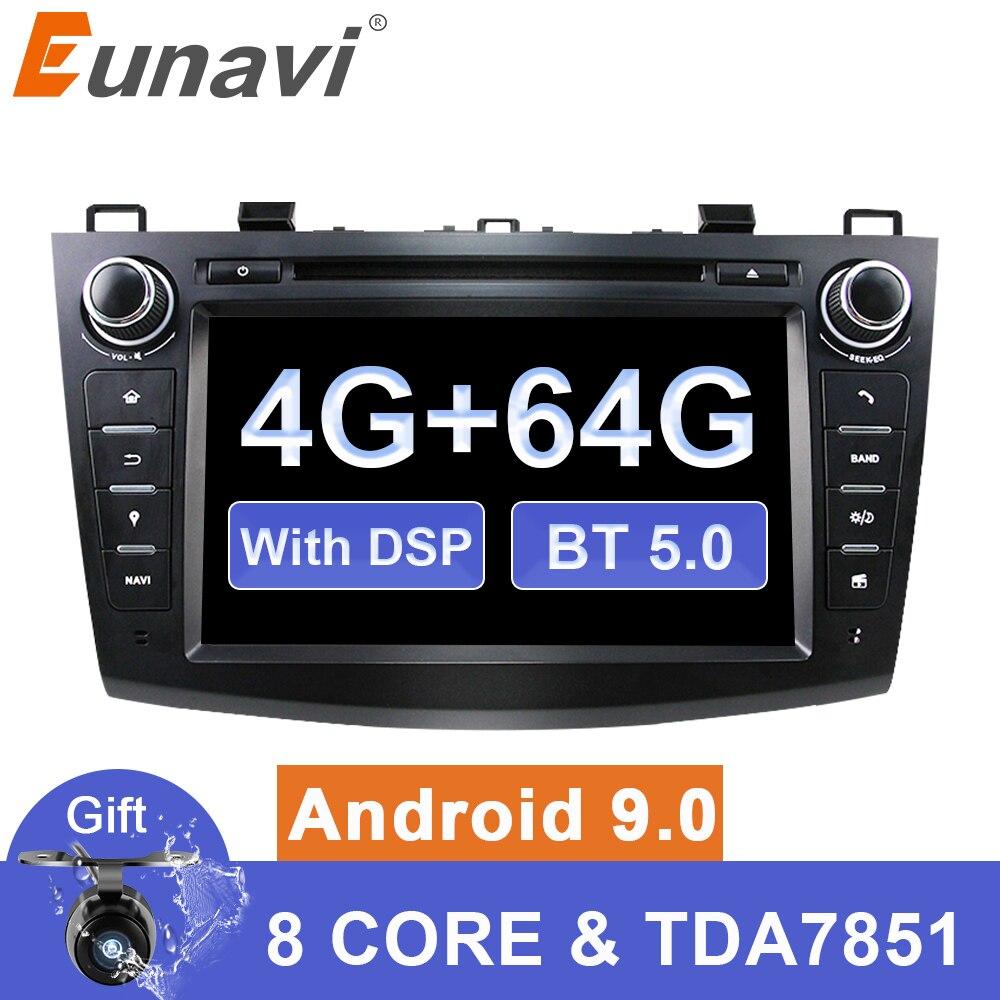 2007*2012 hd dsp octa núcleo do jogador estereofônico de rádio do ruído 2 dvd do carro de eunavi android 9 para mazda 3 1024-600